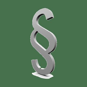 Paragrafenzeichen silbern